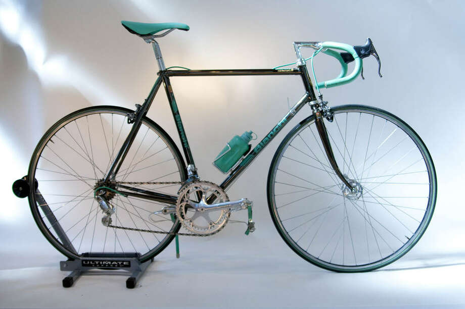 Bianchi Centenario 1985:  This bike Commemorates Bianchi 100 years in business and was displayed at the 1985 Milano Bicycle Expo. | Photo by Sara Schoenfield Murphy for the Houston Bicycle Museum Photo: Sara Schoenfield Murphy