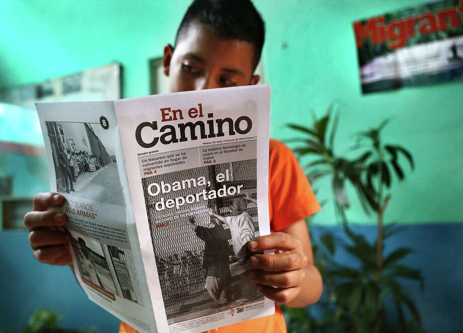 Melvin Guillermo Andalus Hernandes, 12, of El Salvador, who is trying to reach the U.S., looks through a brochure warning immigrants about the issues traveling to the U.S. Readers discuss the issue of unaccompanied minors. Photo: Bob Owen, San Antonio Express-News / ©2013 San Antonio Express-News