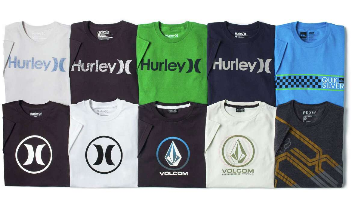 Hurley and Volcom offer a variety of T-shirts for boys.