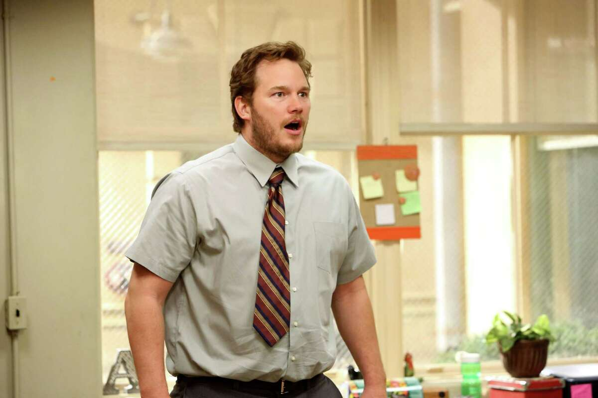 Before he became a superhero, Chris Pratt was better known as goofy Andy in Parks and Recreation.