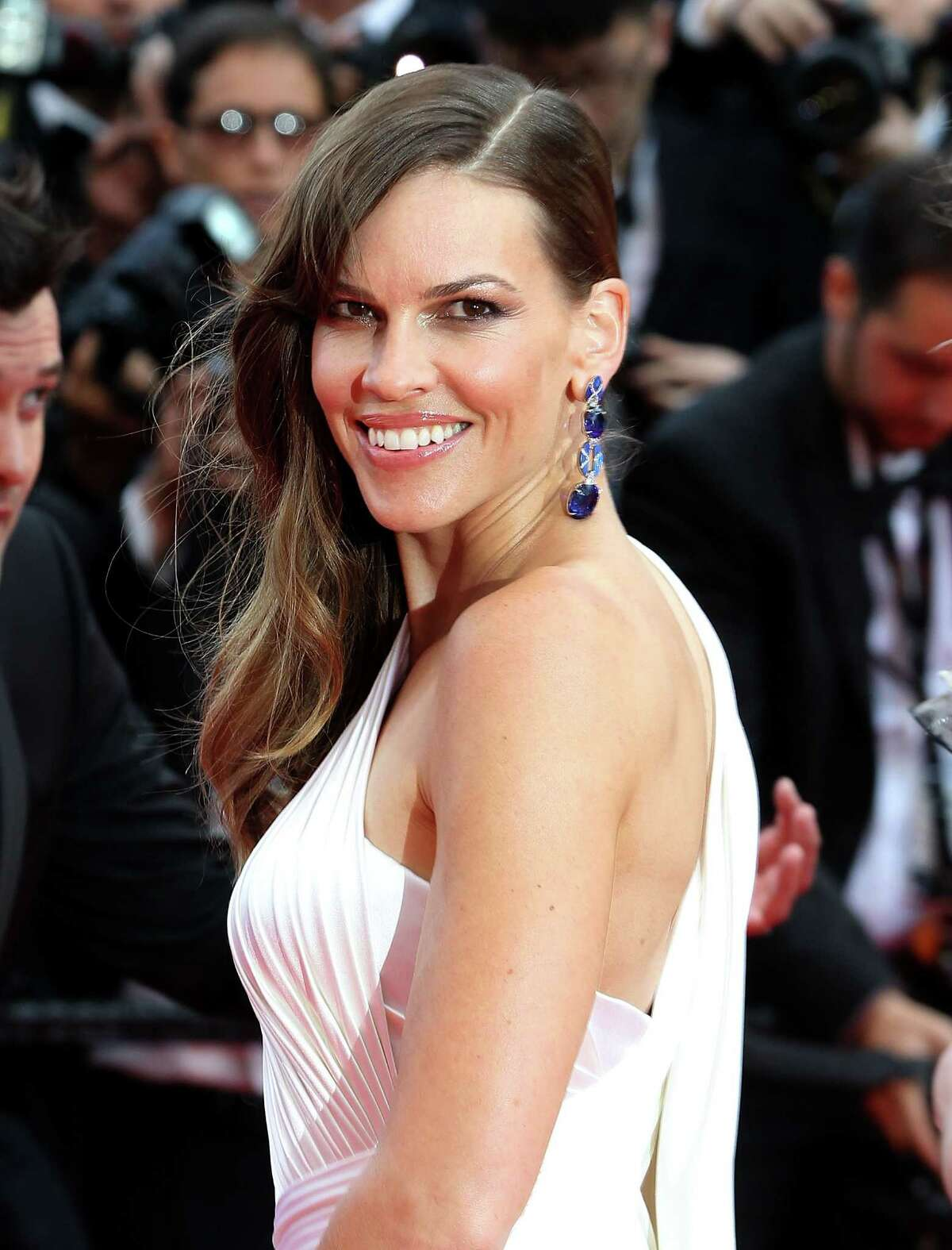 Hilary Swank grew up in Spokane and Bellingham, where she went to Sehome High School until she was 15. Here she's pictured at