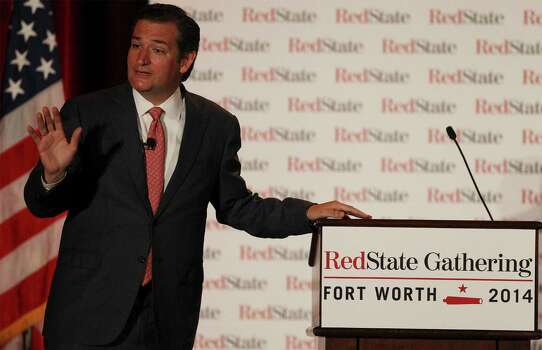 """The Rev. Rafael Cruz, father of U.S. Sen. Ted Cruz, R-Texas, told attendees atthe Family Research Council's annual Watchmen on the Wall briefing on May 22, 2014 that the Bible has voting advice for Christians, according to Time magazine.""""Let me shock you a little bit,"""" he said Thursday in Washington, D.C. """"Did you know that the Bible tells you exactly who to vote for?"""" Cruz cited Exodus 18:21: """"Moreover you shall select from all the people able men, such as fear God, men of truth, hating covetousness; and place such over them to be rulers of thousands, ruler of hundreds, rulers of fifties, and rulers of tens.""""""""If the righteous do not run for office, if the righteous are not even voting. . . that leaves the wicked electing the wicked,"""" Cruz continued. """"We get what we deserve.""""Pictured, Sen. Ted Cruz, R-Texas, addresses an audience at the RedState Gathering in Fort Worth on Friday, August 8, 2014. Officials said about 500 people registered for the event. Photo: Kin Man Hui, San Antonio Express-News / ©2014 San Antonio Express-News"""