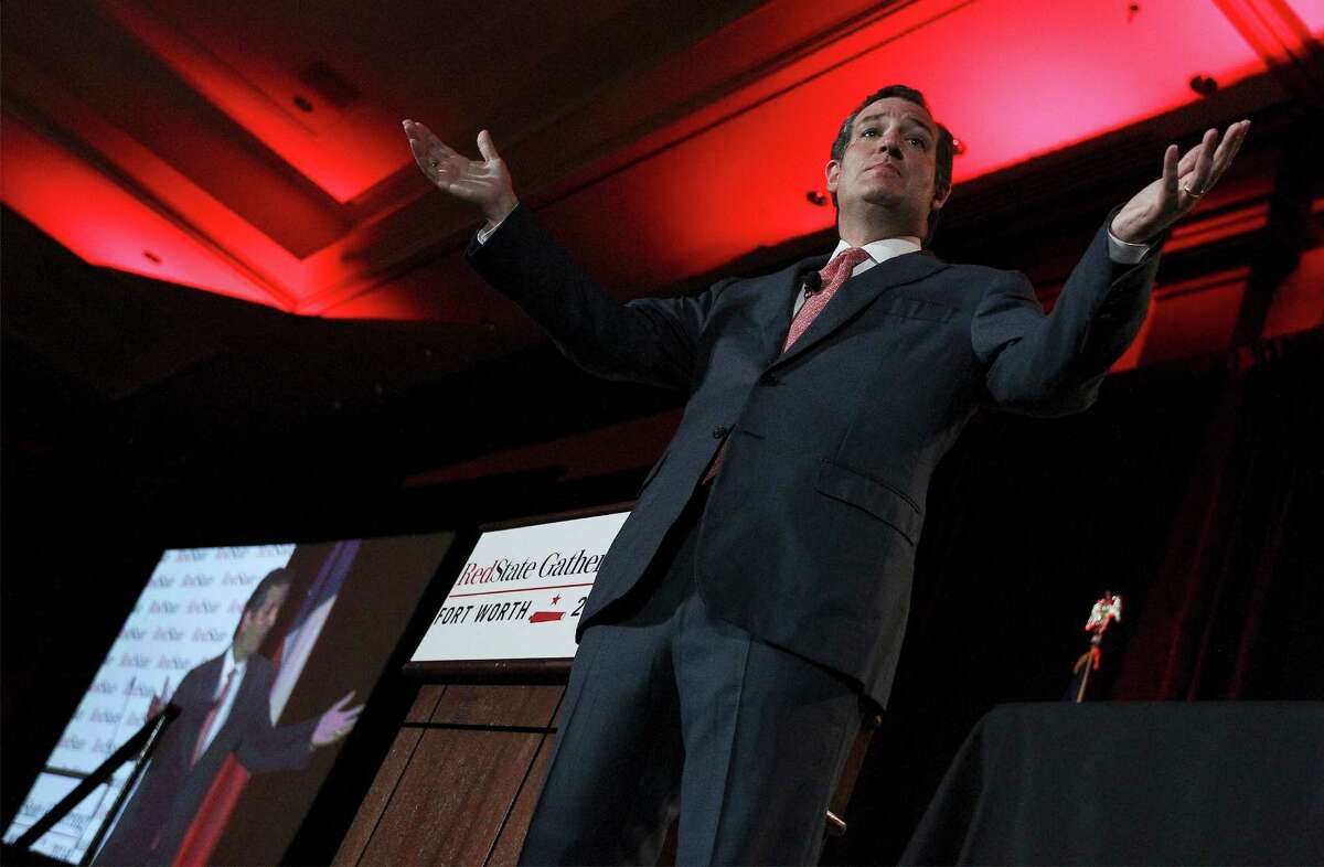 Sen. Ted Cruz, R-Texas, addresses an audience at the RedState Gathering in Fort Worth on Friday, August 8, 2014. Officials said about 500 people registered for the event.