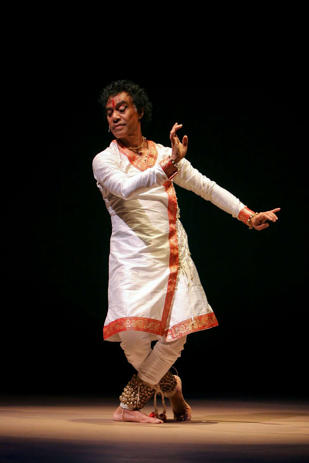 """Pandit Chitresh Das, master of the classical North Indian dance called kathak, performs with Spanish flamenco dancer Antonio Hidalgo Paz next month at the Palace of Fine Arts Theatre in a collaborative piece called """"Yatra: Journey from India to Spain."""" Photo courtesy Chitresh Das Dance Company."""