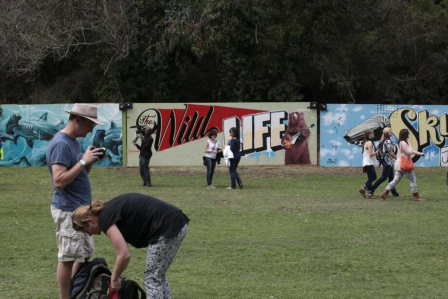 Outside Lands attendees make their way through Golden Gate Park on Friday, Aug. 8, 2014 in San Francisco, Calif. Outside Lands is expected to draw in as many as 180,000 people this weekend. Photo: James Tensuan, The Chronicle