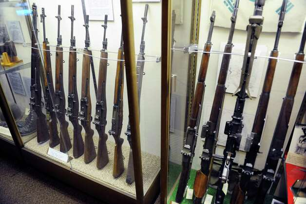 A view of various military rifles on display at the Watervliet Arsenal Museum  Monday, Sept. 30, 2013 in Watervliet, N.Y. (Paul Buckowski / Times Union archive) Photo: Paul Buckowski / 00024008A