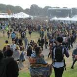The scene at Marx Meadows, the main area of Outside Lands Music Festival in Golden Gate Park on August 08, 2014 in San Francisco, CA.