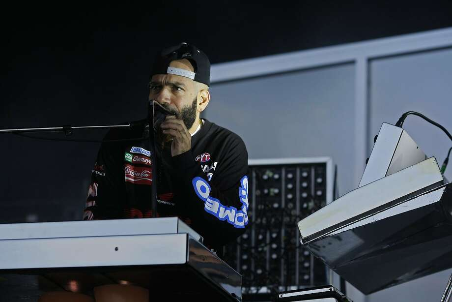 Patrick Gemayel of Chromeo performs at Outside Lands on Friday, Aug. 8, 2014 in San Francisco, Calif. Outside Lands is expected to draw in as many as 180,000 people this weekend. Photo: James Tensuan, The Chronicle