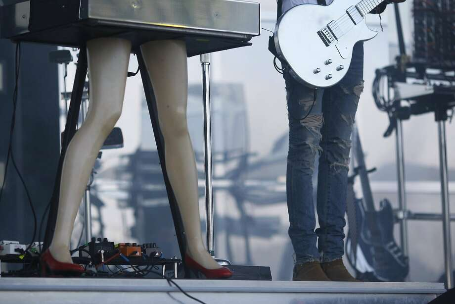 David Macklovitch of Chromeo performs at Outside Lands on Friday, Aug. 8, 2014 in San Francisco, Calif. Outside Lands is expected to draw in as many as 180,000 people this weekend. Photo: James Tensuan, The Chronicle