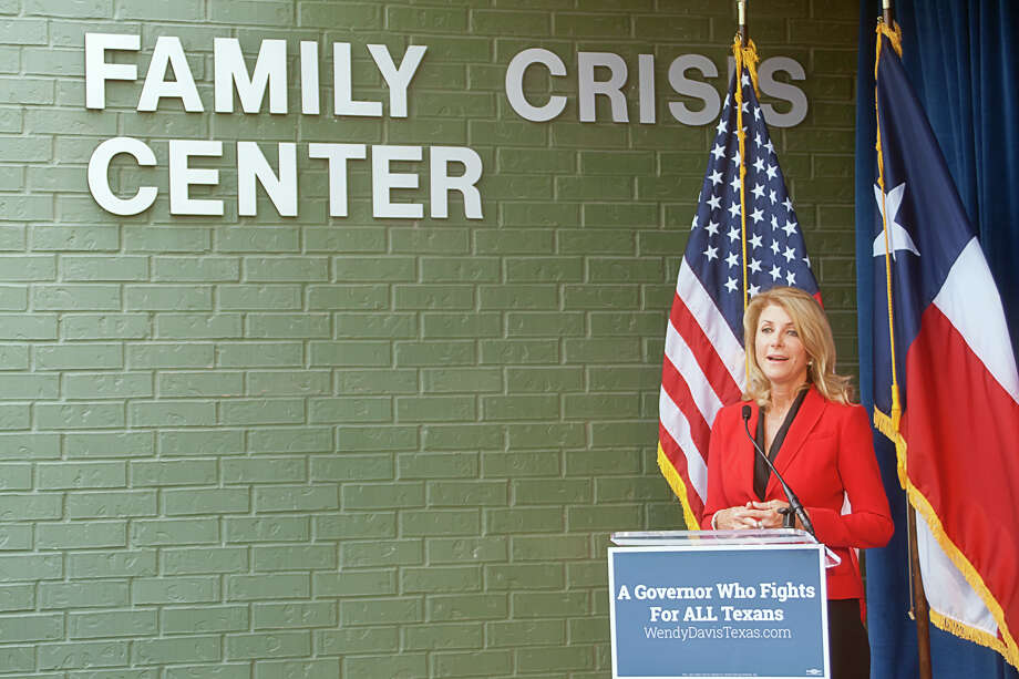 Gubernatorial candidate Wendy Davis made a stop in Harlingen on Friday to speak on domestic violence, a day after releasing an ad about a rape victim. Photo: Maricela Rodriguez, MBR / Valley Morning Star