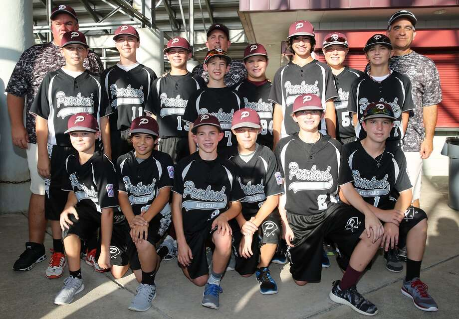 8/8/14: The Pearland All-Stars poses for a picture at the Pearland Little League send off fundraise party at the RIG in Pearland, TX. (Photo by Thomas B. Shea for the Houston Chronicle).