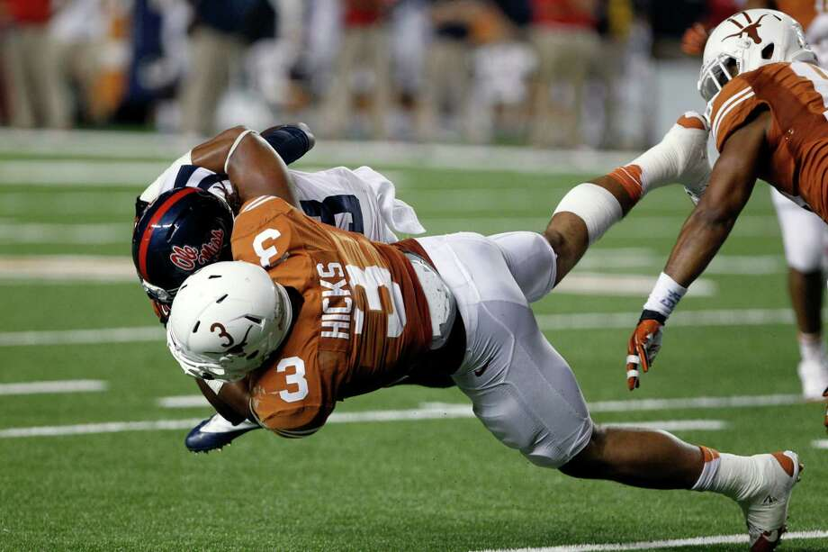 Like teammate and running back Johnathan Gray, Texas linebacker Jordan Hicks (3)  is looking forward to getting back on the field after spending the last eight months recovering from a torn Achilles tendon. Photo: Michael Thomas, FRE / FR65778 AP