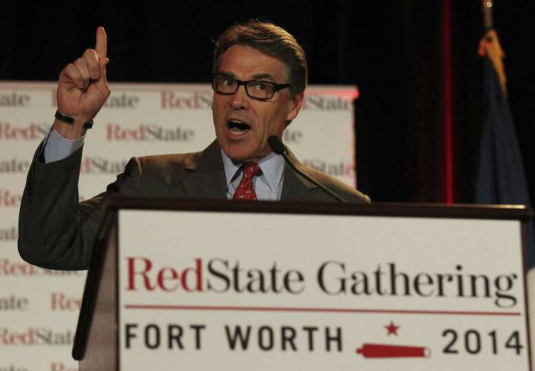 Gov. Rick Perry cited the American and Texas revolutions during an address at the RedState Gathering