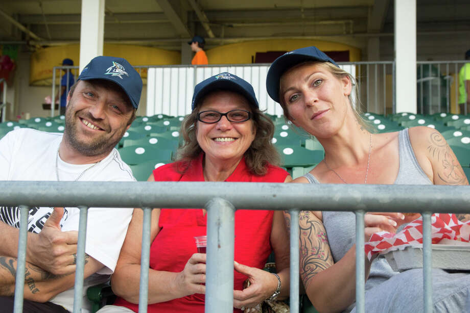 Friday, August 8 was Bluefish Baseball Cap Giveaway night at the Ballpark at Harbor Yard in Bridgeport. Fans cheered for the Bluefish as they took on the Lancaster Barnstormers. Were you SEEN at the game? Photo: Derek T.Sterling, Hearst Connecticut Media Group