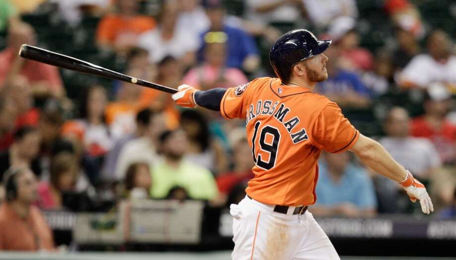 August 8: Astros 4, Rangers 3Robbie Grossman was the man of the hour after his third straight hit of the night found the Crawford Boxes for a go-ahead home run in the Astros' win over the Rangers.  Record: 48-68. Photo: Bob Levey, Getty Images