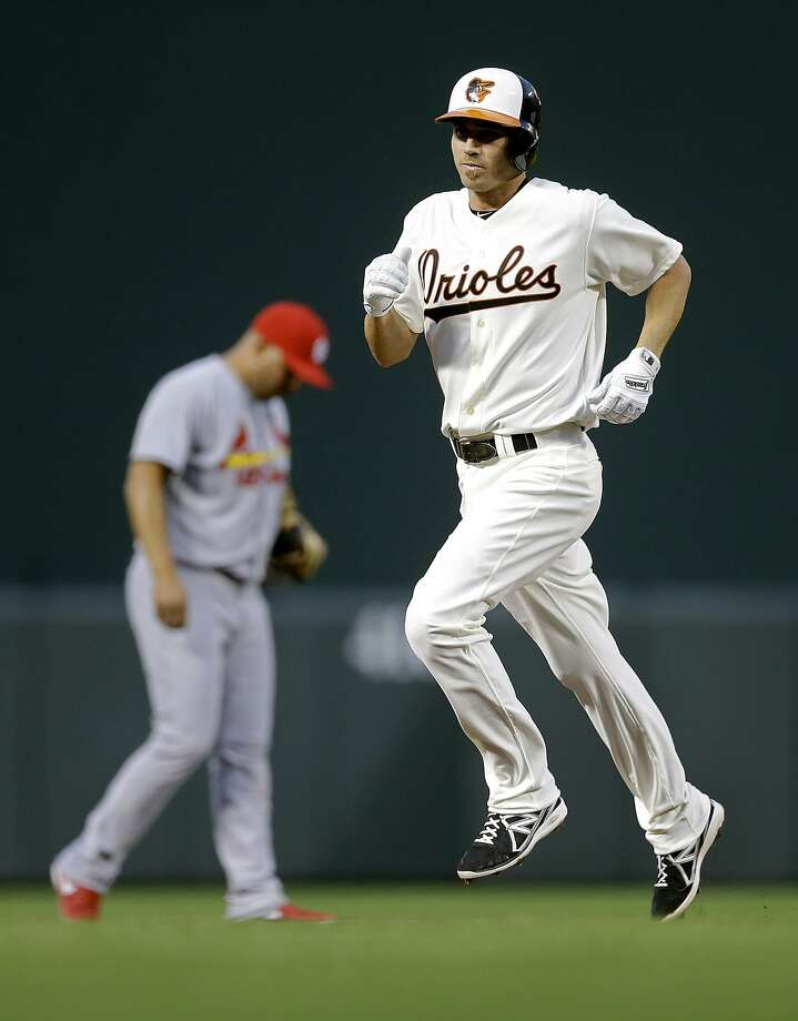 Baltimore's J.J. Hardy hit two home runs in his team's 12-2 win over St. Louis. Photo: Patrick Semansky, Associated Press