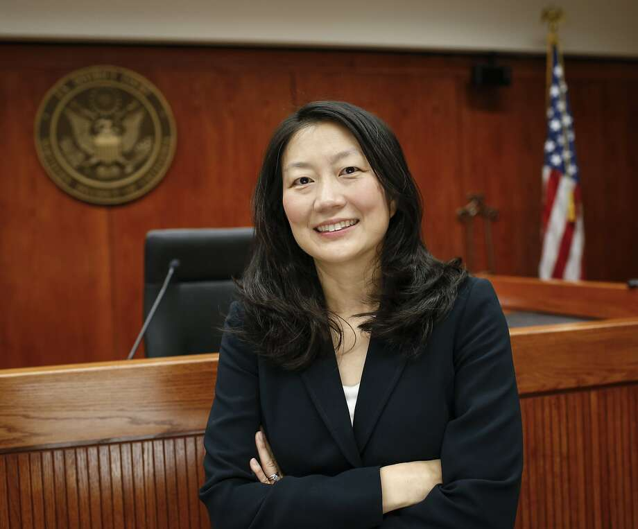 U.S. District Judge Lucy Koh, shown in her courtroom in San Jose, has handled many high-profile tech cases, including patent disputes and claims of collusion over workers' pay. Photo: Russell Yip, The Chronicle