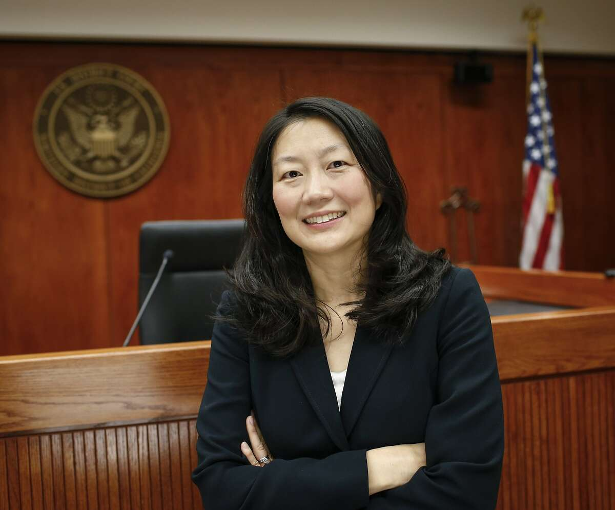United States District Court Judge Lucy Koh is seen in her Robert F. Peckham Federal Building courtroom on Tuesday, July 29, 2014 in San Jose, Calif.