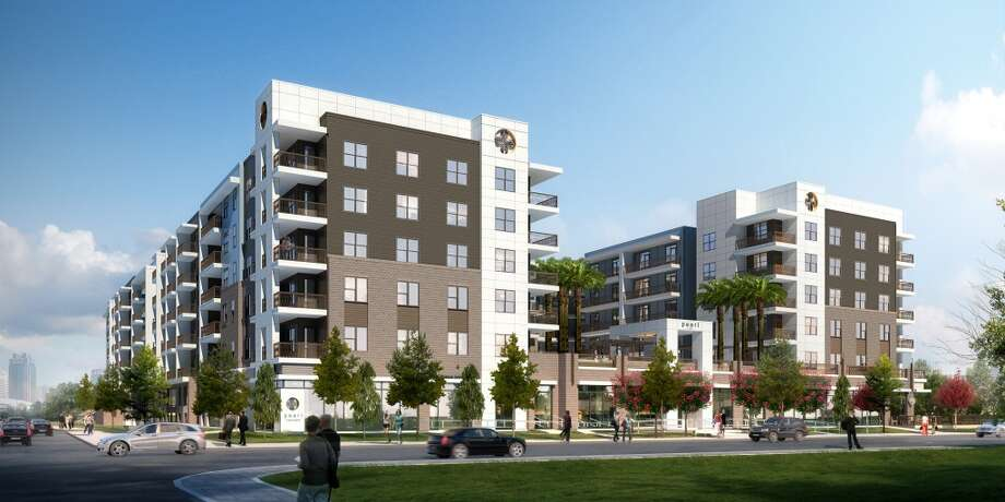 Morgan Group has started building on its latest Pearl-branded apartment complex at Washington Avenue and T.C. Jester. The five-story building will have 322 units ranging from 652 square feet to 1,443 square feet. / ONLINE_YES