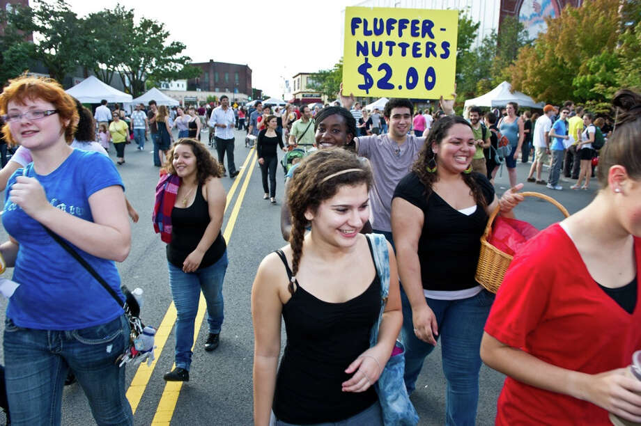 This year the festival will include the fluffernutter relay, fluff lick-off, sticky musical chairs and fluff jousting. Photo: Geoff Hargadon, What The Fluff?