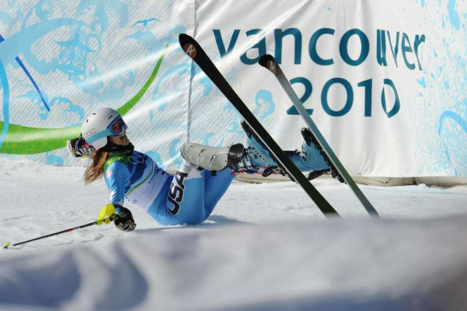 WHISTLER, BC - FEBRUARY 18: (FRANCE OUT) Julia Mancuso of the USA takes the Silver Medal during the Alpine Skiing Ladies Super Combined Downhill on day 7 of the Vancouver 2010 Winter Olympics at Whistler Creekside on February 18, 2010 in Whistler, Canada.  (Photo by Francis Bompard/Agence Zoom/Getty Images) *** Local Caption *** Julia Mancuso Photo: Francis Bompard/Agence Zoom, Getty Images / 2010 Getty Images