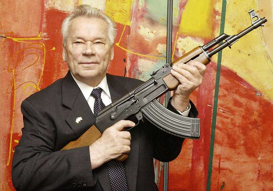 Mikhail Kalashnikov designed the AK-47, which  is one of the most popular weapons in the world. Photo: Jens Meyer, AP
