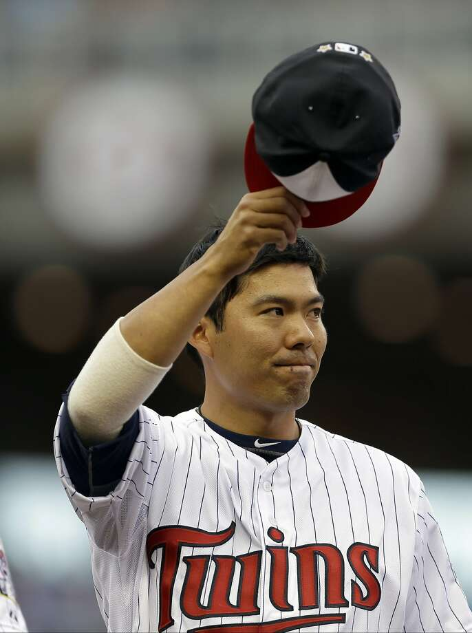 Former A's catcher Kurt Suzuki was an All-Star this season with Minnesota. He has signed a two-year contract extension. Photo: Jeff Roberson, Associated Press