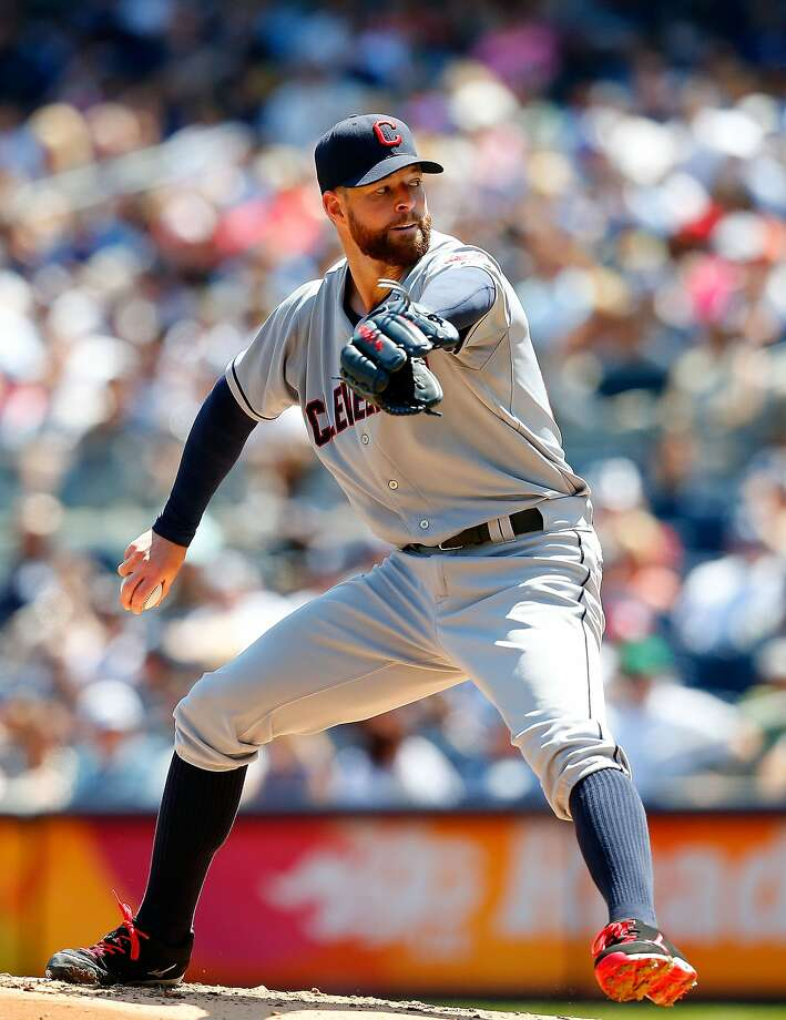 Cleveland's Corey Kluber pitched six shutout innings while extending his winning streak to six games. Photo: Jim McIsaac, Getty Images