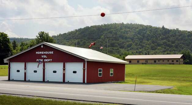 The Morehouse volunteer ambulance and fire company, left, and town Rec Center on Route 8 in Morehouse Tuesday August 5, 2014, Hamilton County, N.Y.  (John Carl D'Annibale / Times Union) Photo: John Carl D'Annibale / 00027999A