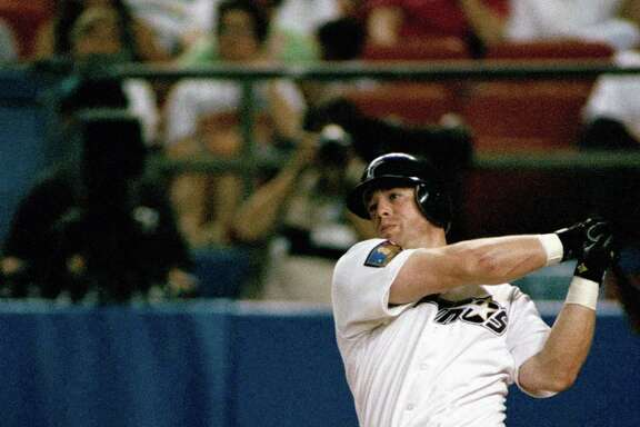 During his banner season in 1994, Jeff Bagwell hit .368 with 39 home runs, 116 RBIs and 104 runs in 110 games before breaking his left hand.
