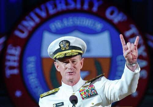 Adm. William H. McRaven: Now the UT System chancellor, McRaven was in charge of U.S. Special Forces during the raid that killed Osama Bin Laden.  Photo: Marsha Miller, HONS / The University of Texas at Austi