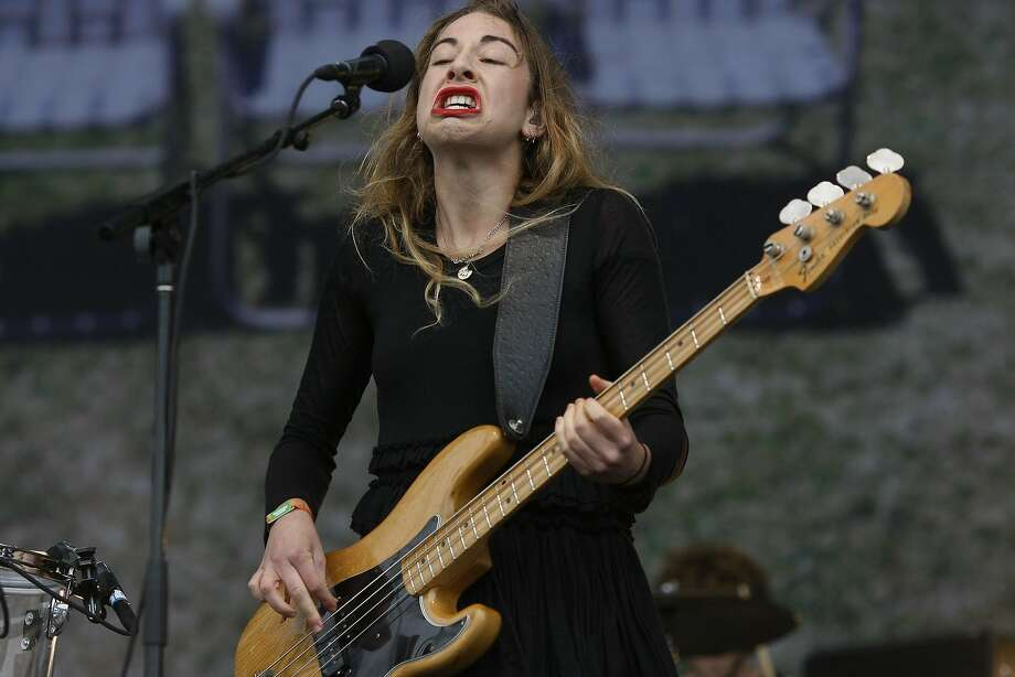 Este Arielle Haim of Haim plays at Outside Lands on Saturday, Aug. 9, 2014 in San Francisco, Calif. The festival featured a variety of acts from Tom Petty to Macklemore. Photo: James Tensuan, The Chronicle