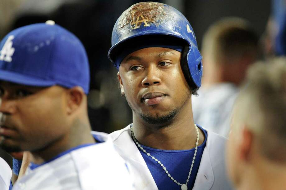 LOS ANGELES, CA - SEPTEMBER 28:  Hanley Ramirez #13 of the Los Angeles Dodgers returns to the dugout in the bottom of the eighth inning against the Colorado Rockies at Dodger Stadium on September 28, 2013 in Los Angeles, California.  (Photo by Lisa Blumenfeld/Getty Images) Photo: Lisa Blumenfeld, Stringer / 2013 Getty Images