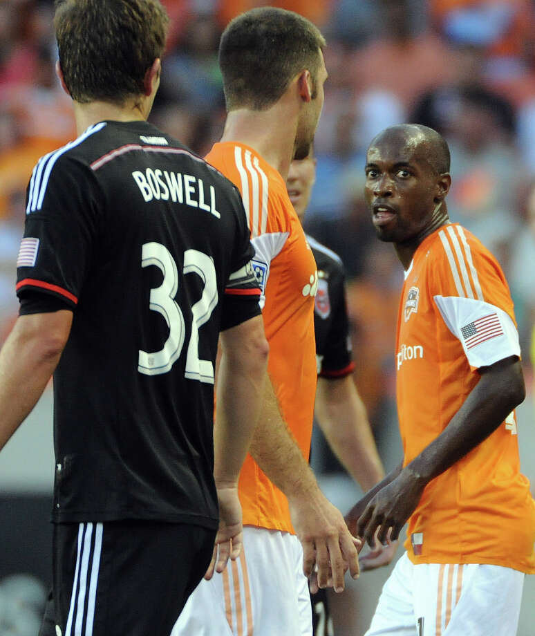 DaMarcus Beasley brings his U.S. World Cup experience to help anchor the Dynamo defense. Photo: Eric Christian Smith, Freelance / 2014 Eric Christian Smith