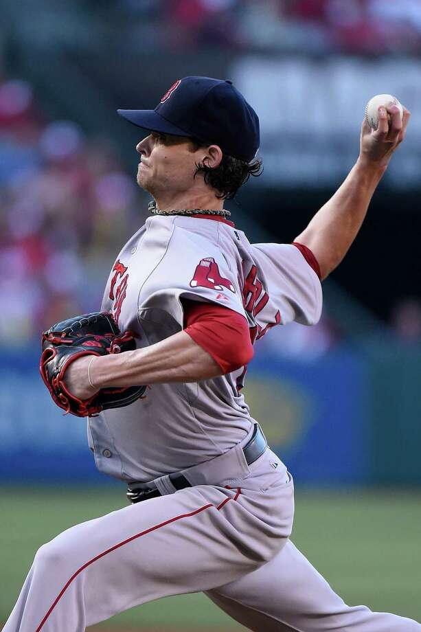 ANAHEIM, CA - AUGUST 09:  Clay Buchholz #11 of the Boston Red Sox pitches in the first inning against the Los Angeles Angels of Anaheim at Angel Stadium of Anaheim on August 9, 2014 in Anaheim, California.  (Photo by Lisa Blumenfeld/Getty Images) ORG XMIT: 482116987 Photo: Lisa Blumenfeld / 2014 Getty Images