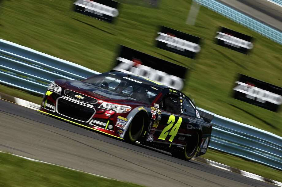 A resurgent Jeff Gordon turns a fast lap of 129.466 mph to win the pole, the 75th of his career, for today's Cheez-It 355. Photo: Jeff Zelevansky / Getty Images / 2014 Getty Images
