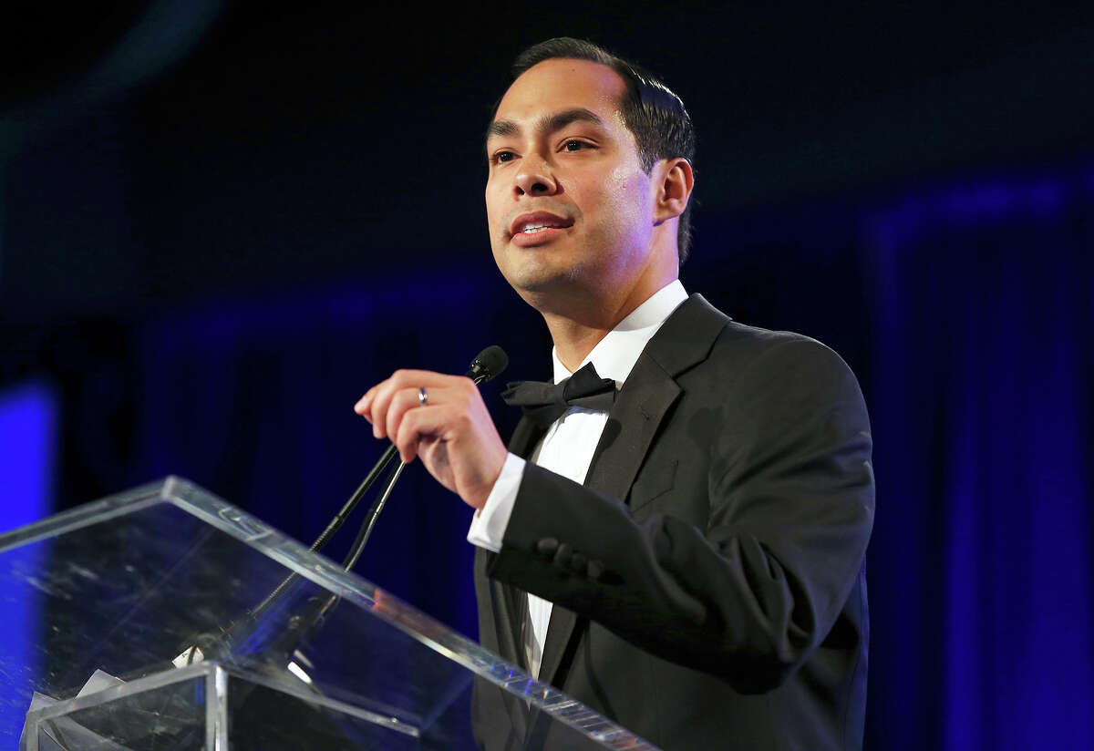 Housing and Urban Development Secretary Julian Castro speaks at the National Association of Hispanic Journalists convention at the Marriott Rivercenter on August 9, 2014.