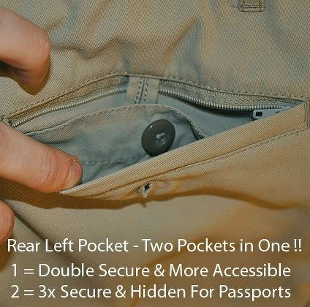 Pick-Pocket Proof Business Traveler Pants by Clothing Arts