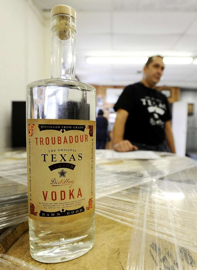 When you want a true handcrafted adult beverage, look no further than The Original Texas Legends Distillery Troubadour Vodka in Orange on Wednesday, October 24, 2012. Photo taken: Randy Edwards/The Enterprise