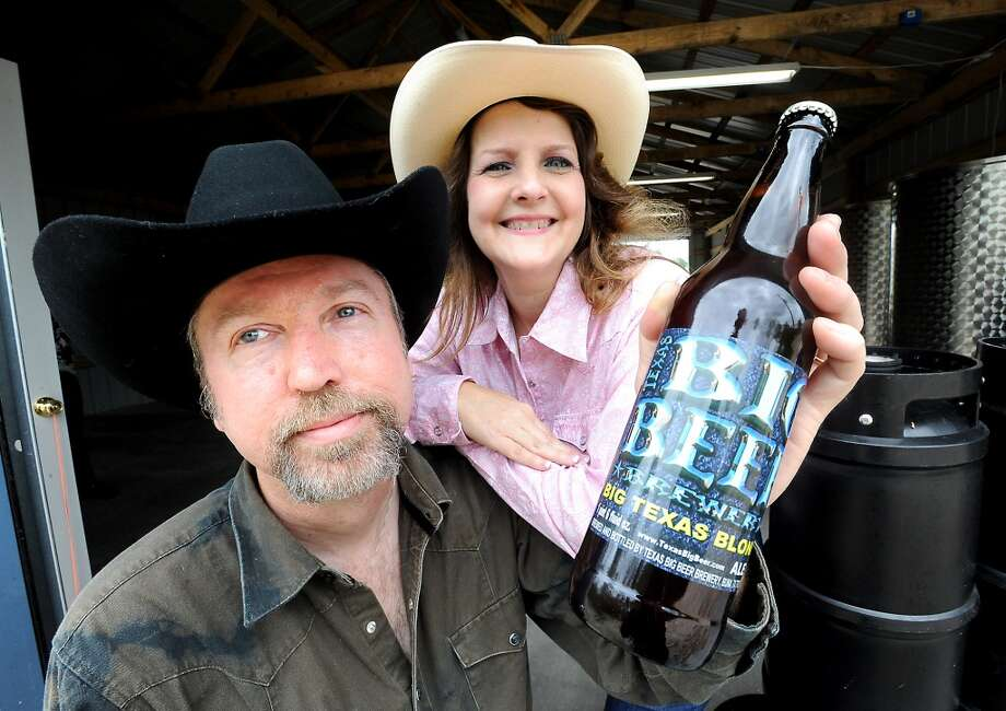 John McKissack and his wife, Tammy McKissack are the founders of the Texas Big Beer Brewery in Buna, Tuesday, March 13, 2012. Tammy McKinley/The Enterprise