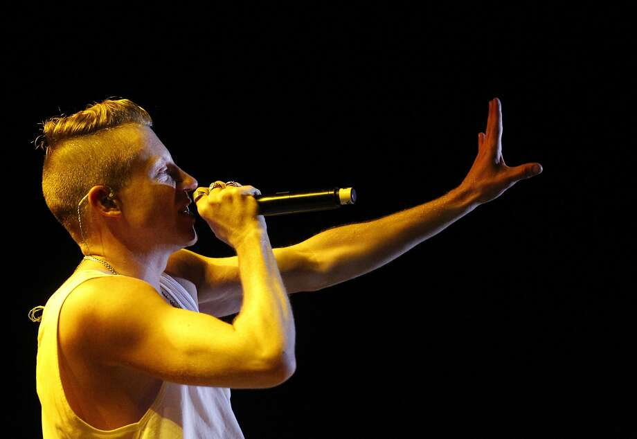 Macklemore performs during Outside Lands music festival August 9, 2014 in Golden Gate Park in San Francisco, Calif. Photo: Leah Millis, The Chronicle