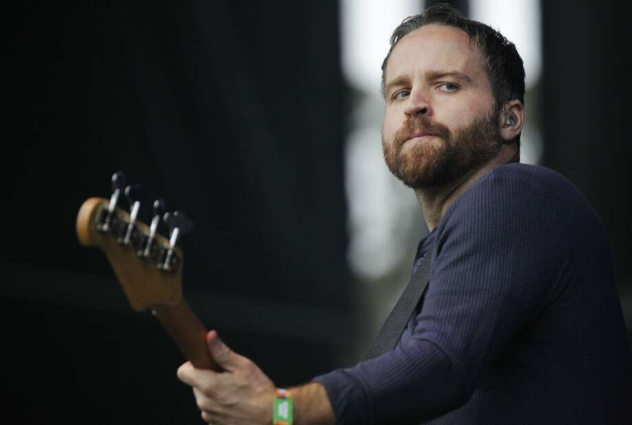 Nick Harmer plays the bass with Death Cab For Cutie during Outside Lands music festival August 9, 2014 in Golden Gate Park in San Francisco, Calif. Photo: Leah Millis, The Chronicle