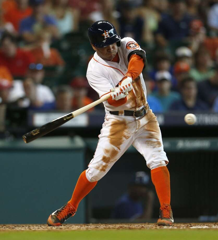 August 10: Rangers 6, Astros 2  Jose Altuve returned to the lineup, but it wasn't enough to secure the sweep of the Rangers as Texas scored six unanswered runs in the finale to bring Houston back down to earth.  Record: 49-69. Photo: Karen Warren, Houston Chronicle
