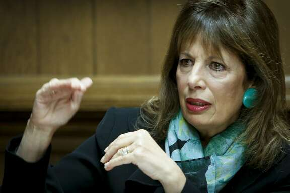 Congresswoman Jackie Speier, U.S. Representative for California's 14th congressional district, talks about various issues with the San Francisco Chronicle editorial board on Monday, March 17, 2014 in San Francisco, Calif.