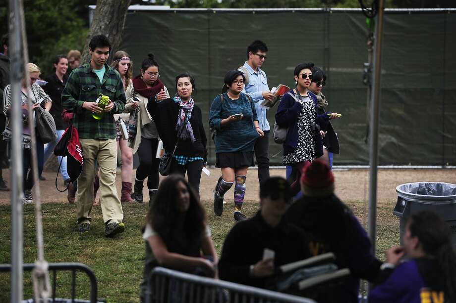 Festival attendees walk to the entrance of Outside Lands Music Festival in Golden Gate Park on August 10, 2014 in San Francisco, CA. Photo: Craig Hudson, The Chronicle