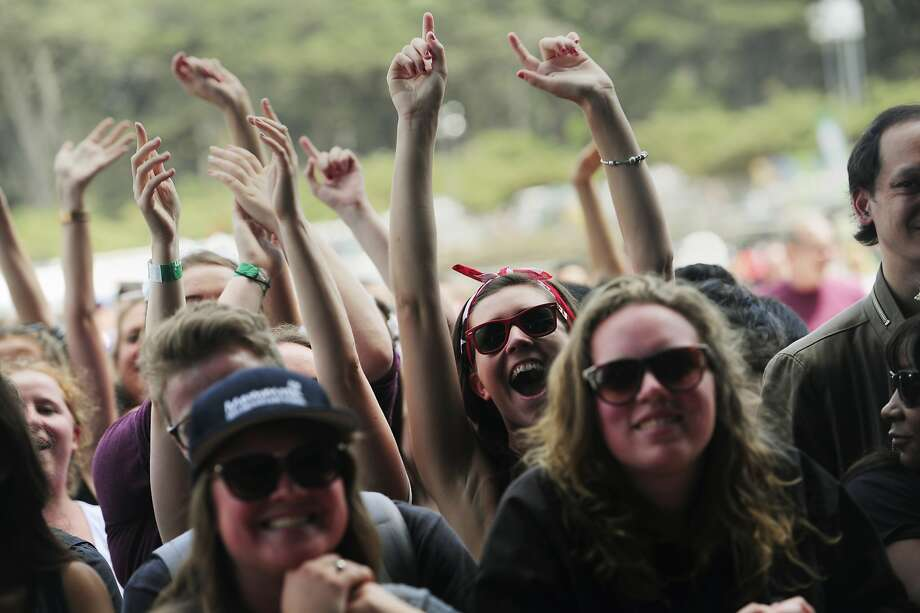 Spectators cheer as Imelda May performs on the Lands End stage at Outside Lands Music Festival in Golden Gate Park on August 10, 2014 in San Francisco, CA. Photo: Craig Hudson, The Chronicle
