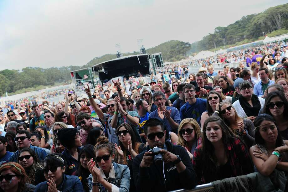 The crowd cheers as Imelda May performs on the Lands End stage at Outside Lands Music Festival in Golden Gate Park on August 10, 2014 in San Francisco, CA. Photo: Craig Hudson, The Chronicle