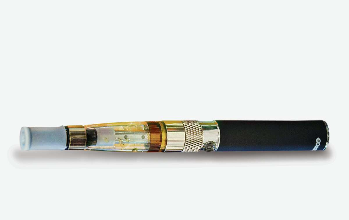 E-cigarettes emit water vapor, which can contain nicotine, rather than smoke.