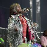Wayne Coyne of The Flaming Lips performs during Outside Lands festival at Golden Gate Park in San Francisco, Calif. on Sunday, August 10, 2014.