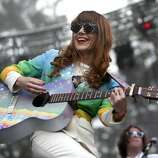 Jenny Lewis plays the Sutro stage during Outside Lands festival at Golden Gate Park in San Francisco, Calif. on Sunday, August 10, 2014.